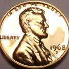 Blazing Red Gem Proof 1968-S  Lincoln Cent~Fantastic~Free Shipping
