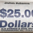 2007-P GEM UNC BANK ROLL OF JOHN ADAMS PRESIDENTIAL DOLLARS~FREE SHIPING~