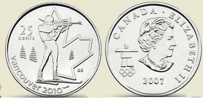 UNC CANADA OLYMPIC 2007 BIATHLON QUARTER~FREE SHIP