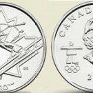 UNC CANADA OLYMPIC 2007 ALPINE SKIING QUARTER~FREE SHIP