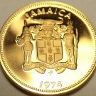 PROOF JAMAICA 1974 CENT~ACKEE FRUIT~SUPER~22K MINTED~FREE SHIPPING