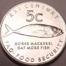 Gem Unc Namibia 2000 F.A.O. Issue 5 Cents~Horse Mackerel Eat More Fish~Free Ship