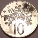 Rare Proof Jamaica 1970 10 Cents~Butterfly~Lignum Vitale~Only 12,000 Minted~Fr/S