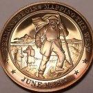 1842~FREEMONT MAPS THE WEST~DORR'S REBELLION~MASSIVE FRANKLIN MINT BRONZE~FR/SHI