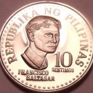 Rare Cameo Proof Philippines 1977 10 Sentimos~4,822 Minted~Free Shipping