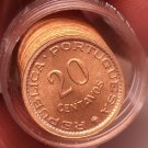Gem Unc Roll (50 Coins) Rare Mozambique 1974 20 Centavos~High Value~Free Ship