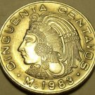 Gem Unc Mexico 1983 50 Centavos~Last Year Ever Minted This Type~Free Shipping