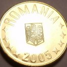 Gem Brilliant Uncirculated Romania 2005 1 Bani~Free Shipping