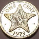 PROOF BAHAMAS 1973 CENT~STARFISH~~NICE~~FREE SHIPPING~~
