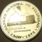 MASSIVE SILVER PROOF PHILIPPINES 1974 25 PISO~FREE SHIPING~