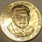 GOVERNOR RICHARD B. OGILVIE~INAUGURATED~ILLINOIS 1818~BRONZE~FREE SHIPPING~