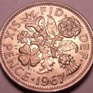 Gem Unc Great Britain 1967 6 Pence~Great For Weddings & Getting Married~