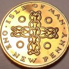 Rare Proof Isle Of Man 1971 Penny~1st Year~10k Minted~Celtic Cross~Free Shipping