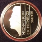 Rare Encapsulated Proof Netherlands 1989 25 Cents~15,300 Minted~Free Shipping