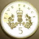 CAMEO PROOF GREAT BRITAIN 1994 5 PENCE~AWESOME~FREE SHIPPING~WE HAVE UK COINS~