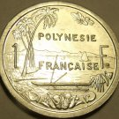 Gem Unc French Polynesia 1991-A 1 Franc~Seated Liberty With Torch~Free Ship*