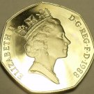 Scarce Huge Cameo Proof Great Britain 1988 50 Pence~Double Eights~Free Shipping