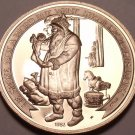 Massive Bronze Proof Medallion~He Went Straight To His Work~Santa Claus~Free Shi