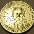 Large Gem Unc Liberia 2000 10 Dollars~George Bush~We Have Thousands Of Unc Coins