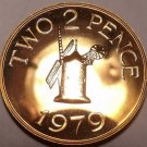 LARGE GUERNSEY 1979 PROOF 2-PENCE~WINDMILL~~FREE SHIP~~