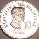 Gem Cameo Proof Phillipines 1975 10 Sentimos~1st Year~37,000 Minted~Free Ship