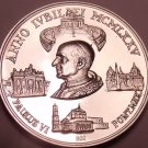 Rare Gem Proof Vatican 1975 .800 Silver Medal~Pope Paul VI~Only 3,500 Minted~F/S
