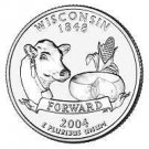 2004-P WISCONSIN GEM UNC STATE QUARTER~FREE SHIP INCL~~