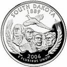 2006-P SO. DAKOTA BRILLIANT UNCIRCULATED STATE QUARTER