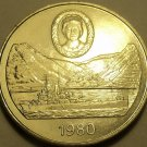 St. Helena Massive Unc 1980 25 Pence~Queen Mother's 80th Birthday~Free Shipping