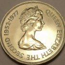 Massive Guernsey 1977 25 Pence~The Queens Silver Jubilee~Free Shipping