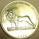 Gem Unc Congo 2004 One Franc~Papal Visit To Congo~Lion Coin~Free Shipping