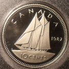 Gem Cameo Proof Canada 1982 10 Cents~180,908 Minted~Free Shipping