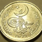 Gem Unc Pakistan 1971 1 Paisa~Awesome Cresent Moon Coin~Free Shipping
