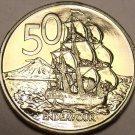 Proof New Zealand 1969 50 Cents~HMS Endeavour~50k Minted~Edge Incription~Free Sh