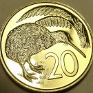 Proof New Zealand 1969 20 Cents~Kiwi Bird~Only 50,000 Minted~Free Shipping