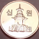 Gem Brilliant Unc South Korea 2014 10 Won~Pagoda at Pul Guk Temple~Free Shipping