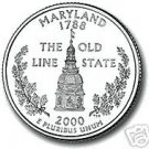 2000-D MARYLAND BRILLIANT UNCIRCULATED STATE QUARTER