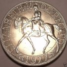 Massive Great Britain 1977 25 Pence~Jubilee Of Reign Commemorative~Free Shipping
