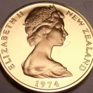 Rare Gem Cameo New Zealand 1974 2 Cents~Only 8,000 Minted~Kowhai Leaves~Free Shi