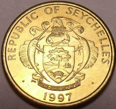 Gem Unc Seychelles 1997-PM 10 Cents~Yellowfin Tuna~Two Sailfish~Free Shipping