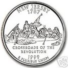 1999-D NEW JERSEY GEM UNC STATE QUARTER~FREE SHIPPING~