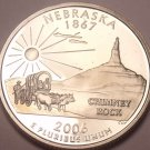 Gem Cameo Proof 2006-S Nebraska State Quarter~See All Our Proof Quarters~Fr/Ship