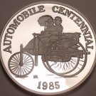 Rare Silver Proof Hutt River 1985 $25.00~Automobile Centennial~5000 Minted~Fr/Sh