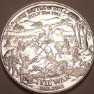 Massive Silver Plated Civil War Proof Medallion~Battla Of Bull Run~Free Shipping