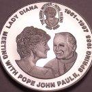Cameo Proof Congo 2000 5 Francs~Princess Diana Visit With Pope Paul II~Free Ship