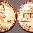 1976-P BRILLIANT GEM UNC LINCOLN CENT~VERY NICE~FREE SH