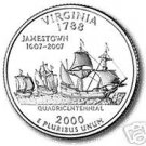 2000-D VIRGINIA BRILLIANT GEM UNC STATE QUARTER~FR/SHIP