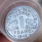 FULL ROLL(40 COINS) CIRCULATED FRANCE 1 FRANC COINS~ALL PRE-1959~FREE SHIPPING~