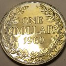Huge Rare Proof Liberia 1969 Dollar~Only 5,056 Ever Minted~Free Shipping