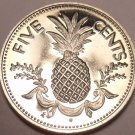 Proof Bahamas 1975 5 Cents~29,000 Minted~Pineapple Coin~Free Ship~See R Proofs~